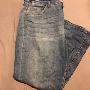 Plus Size Light Colored Jeans